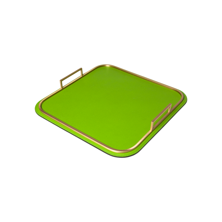 Square Bellini Leather Tray by Giobagnara - Small - special order - 6 to 8 weeks for delivery