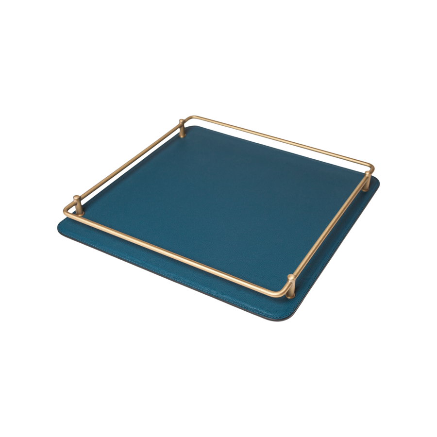 Square Rondo Leather Tray by Giobagnara - Small - special order - 6 to 8 weeks for delivery