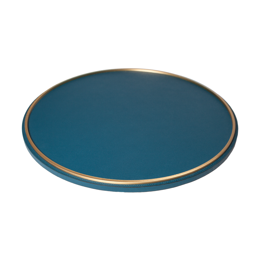 Italian Leather Lazy Susan by Giobagnara - special order - 6 to 8 weeks for delivery