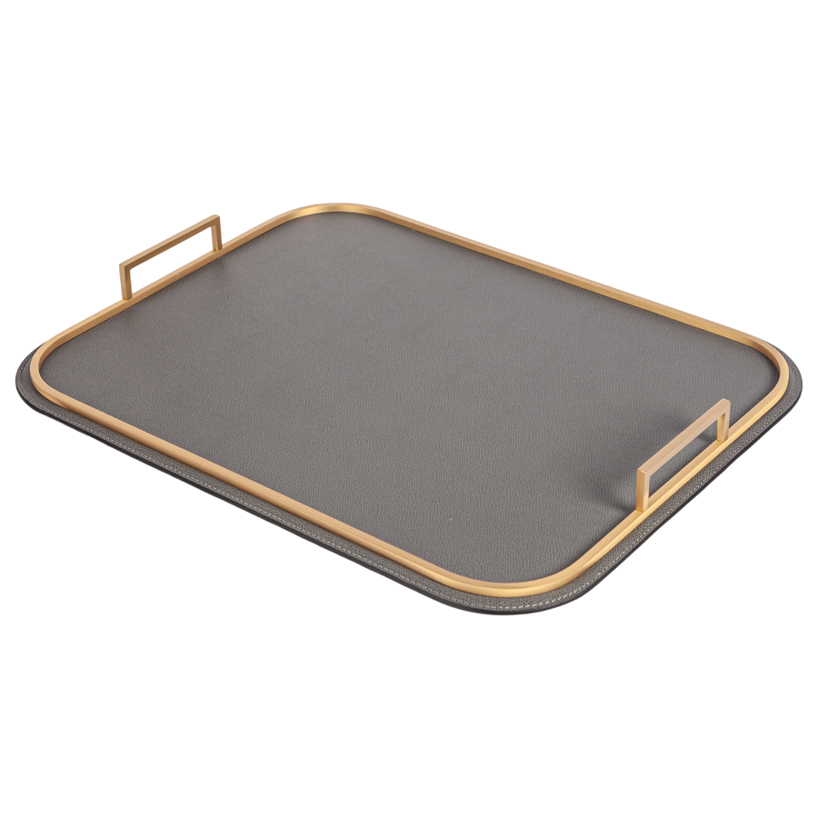 Rectangle Bellini Leather Tray by Giobagnara - special order - 6 to 8 weeks for delivery