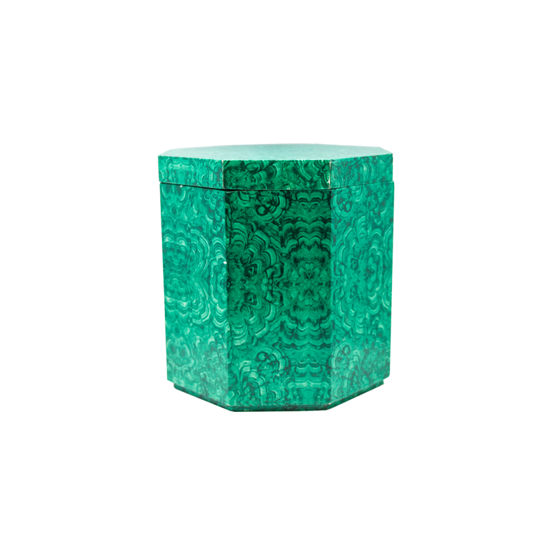 Faux Malachite Ice Bucket by Georges Briard