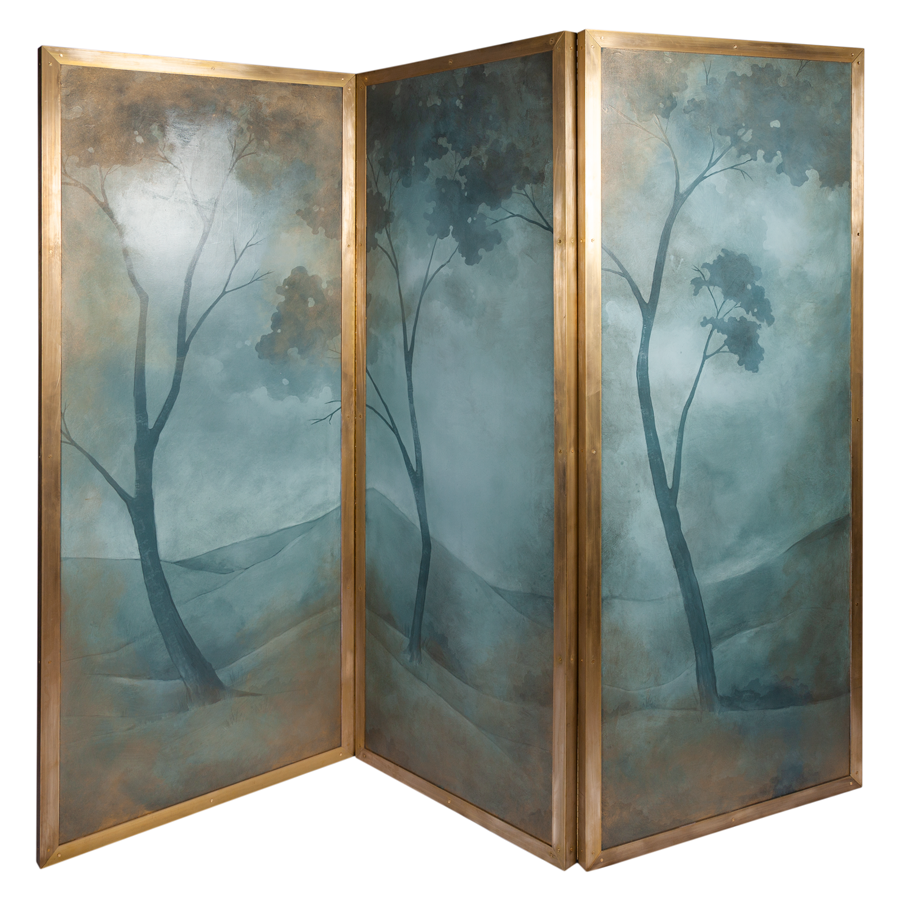 Hand Painted Double Sided Screen