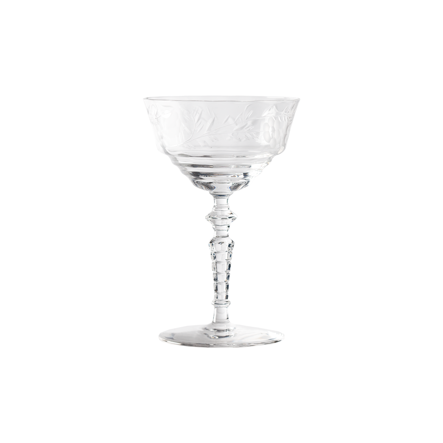 Cut Crystal Champagne - Set of 7