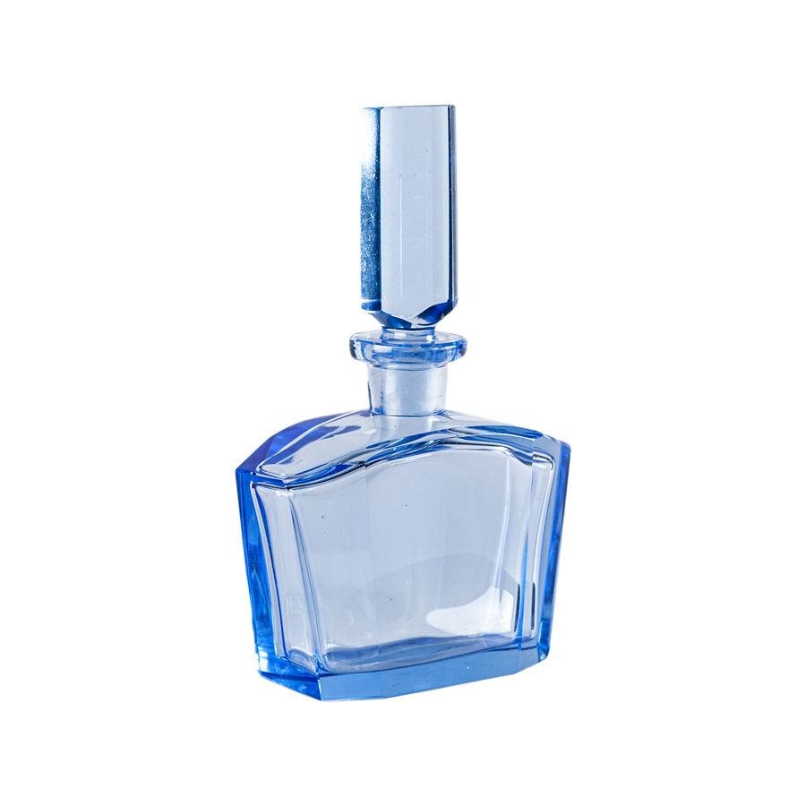 Pale Blue Bohemia Crystal Decanter