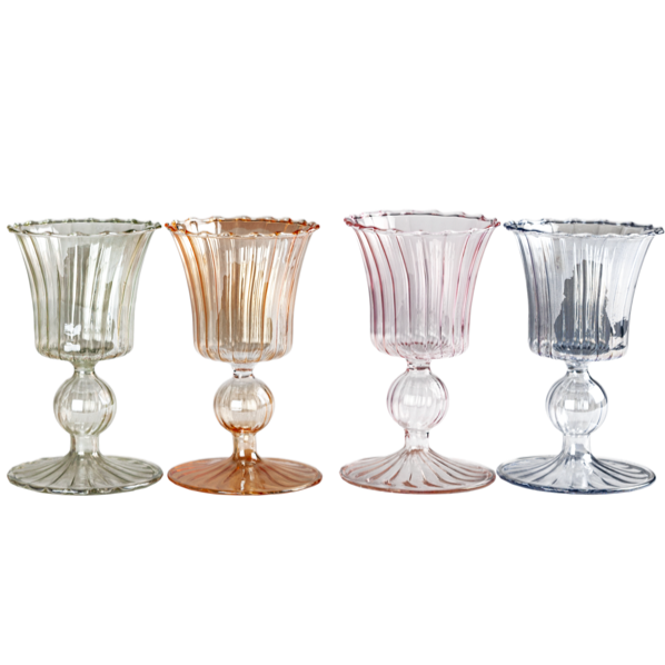 Multicolored Venetian Wine Glasses - Set of 6