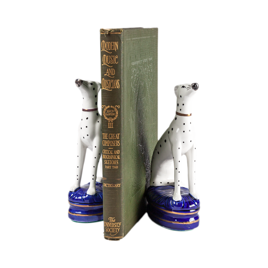 Fritz & Floyd Hand Painted Porcelain Dalmatian Bookends
