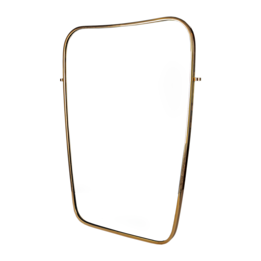 Brass Mirror in the style of Gio Ponti