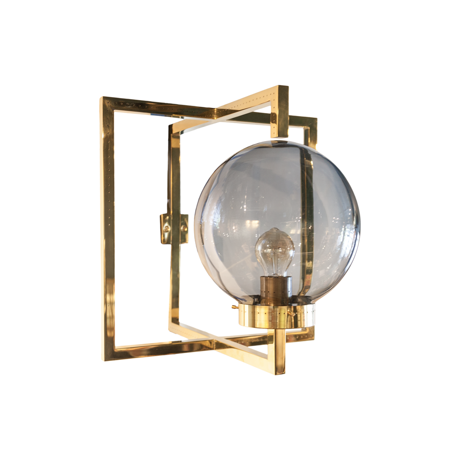 Pair of Brass Italian Sconces by Diego Mardegan