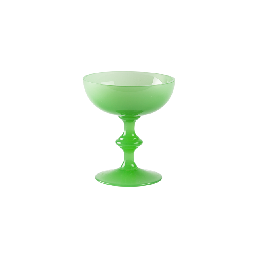 Portieux Vallerysthal Green Opaline Champagne Coupe