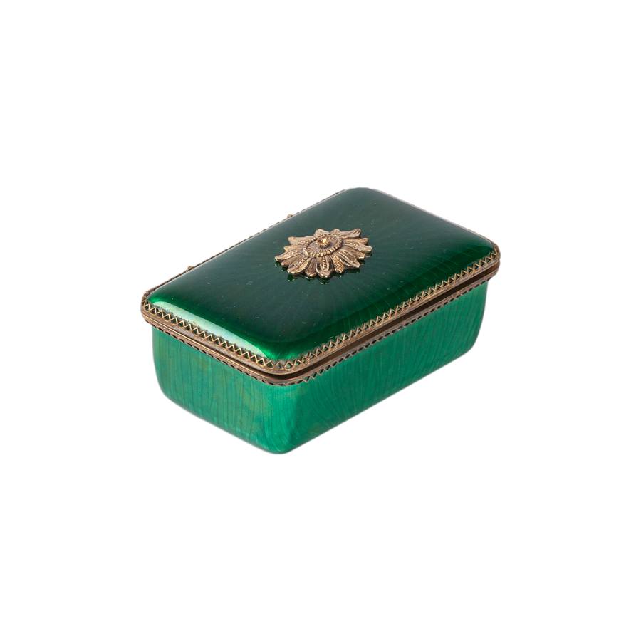 Green Enameled Box