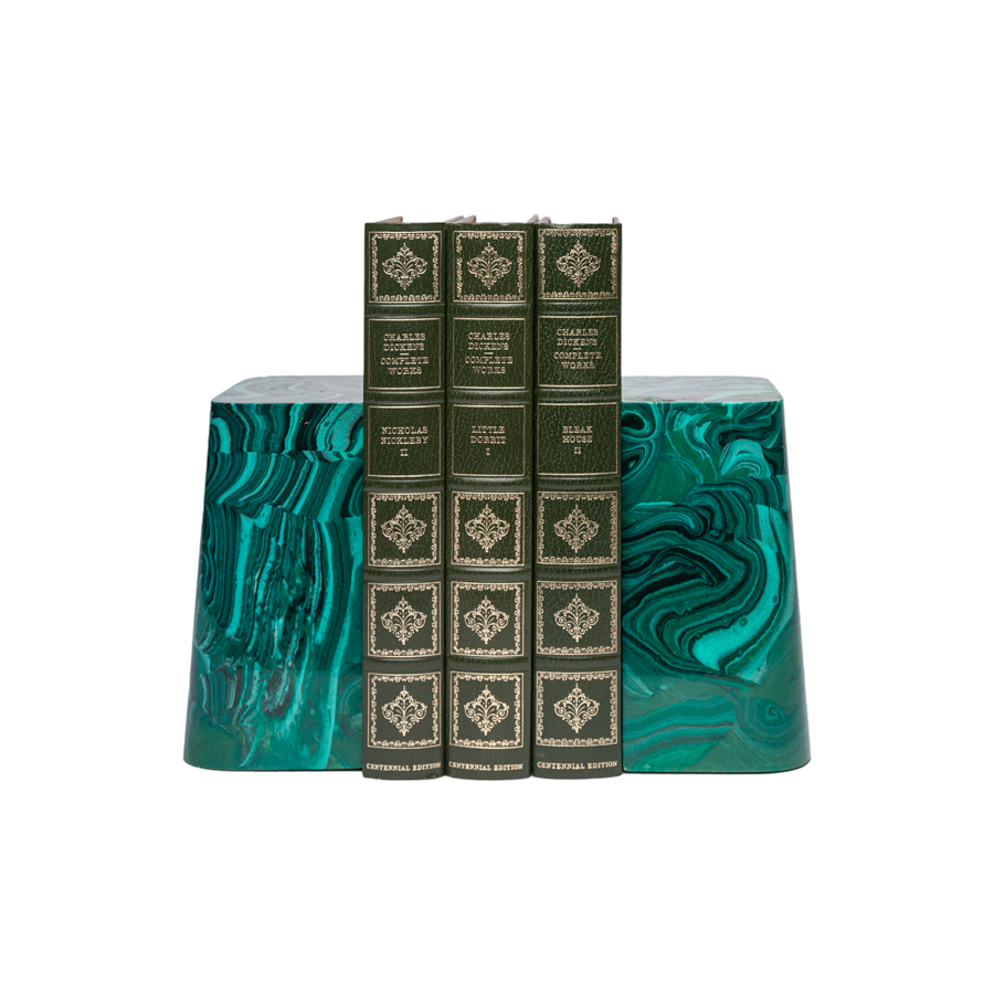 Faux Malachite Bookends