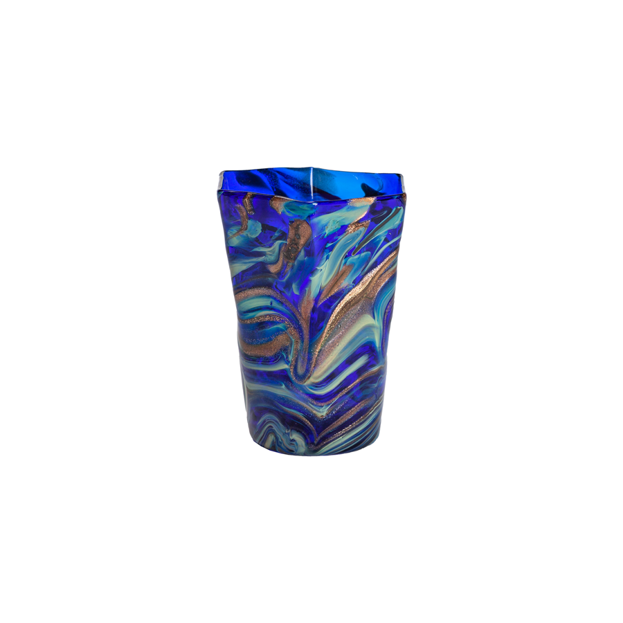 Murano Calcedonia Hexagonal Glasses by Davide Di Fuin