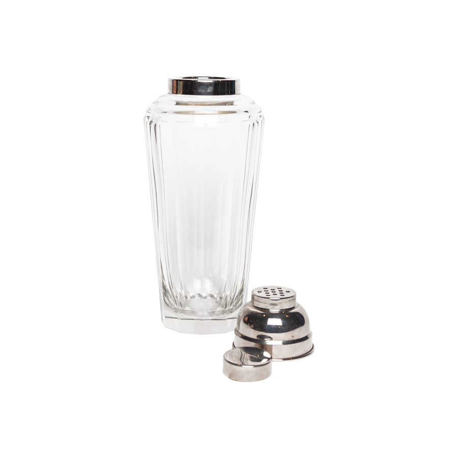 Art Deco Cut Crystal Cocktail Shaker