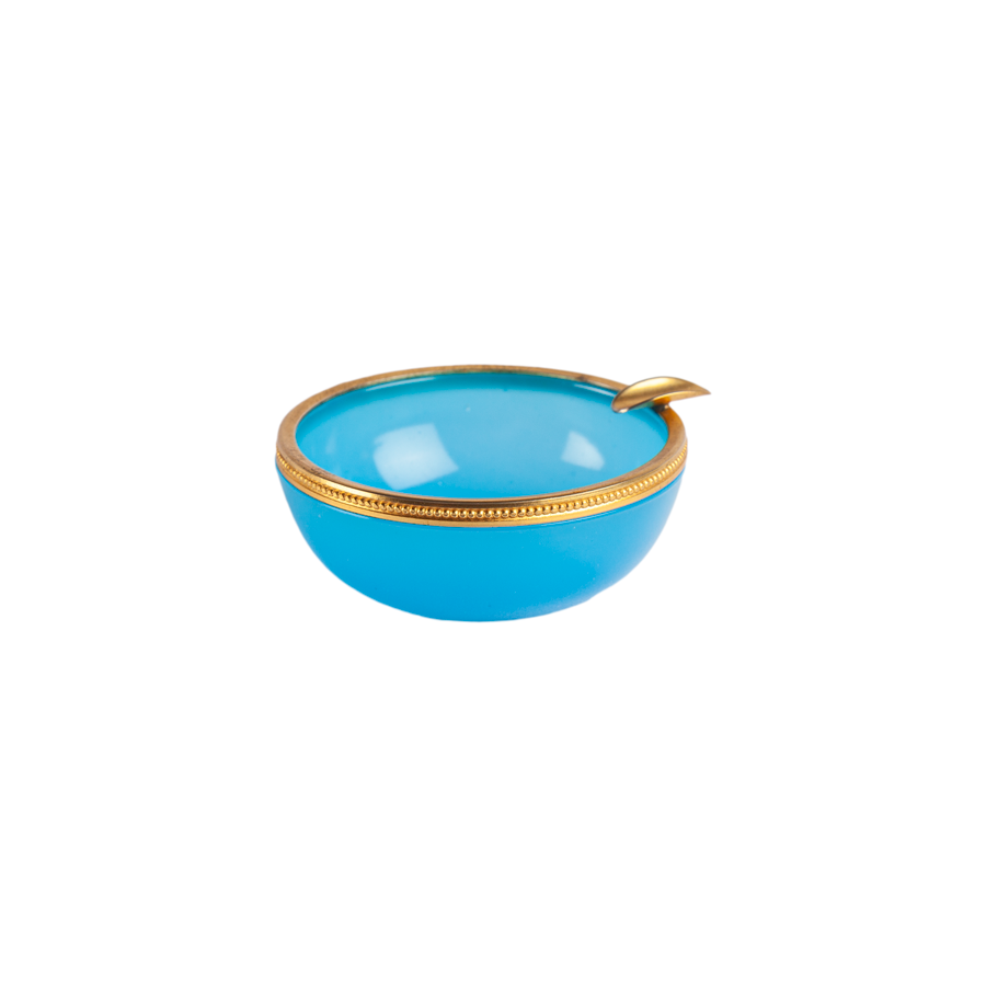 Round Blue Opaline Ashtray