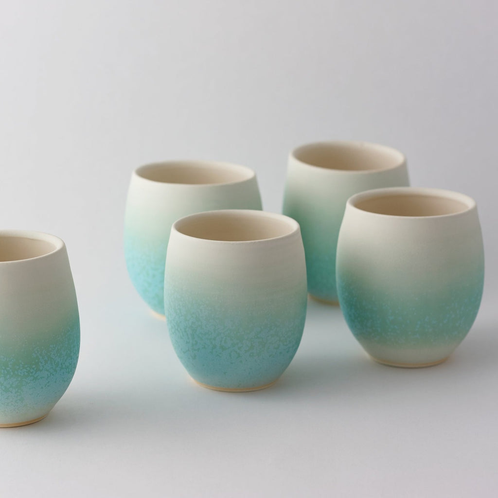 Ice Green Sake Cup - Set of 4