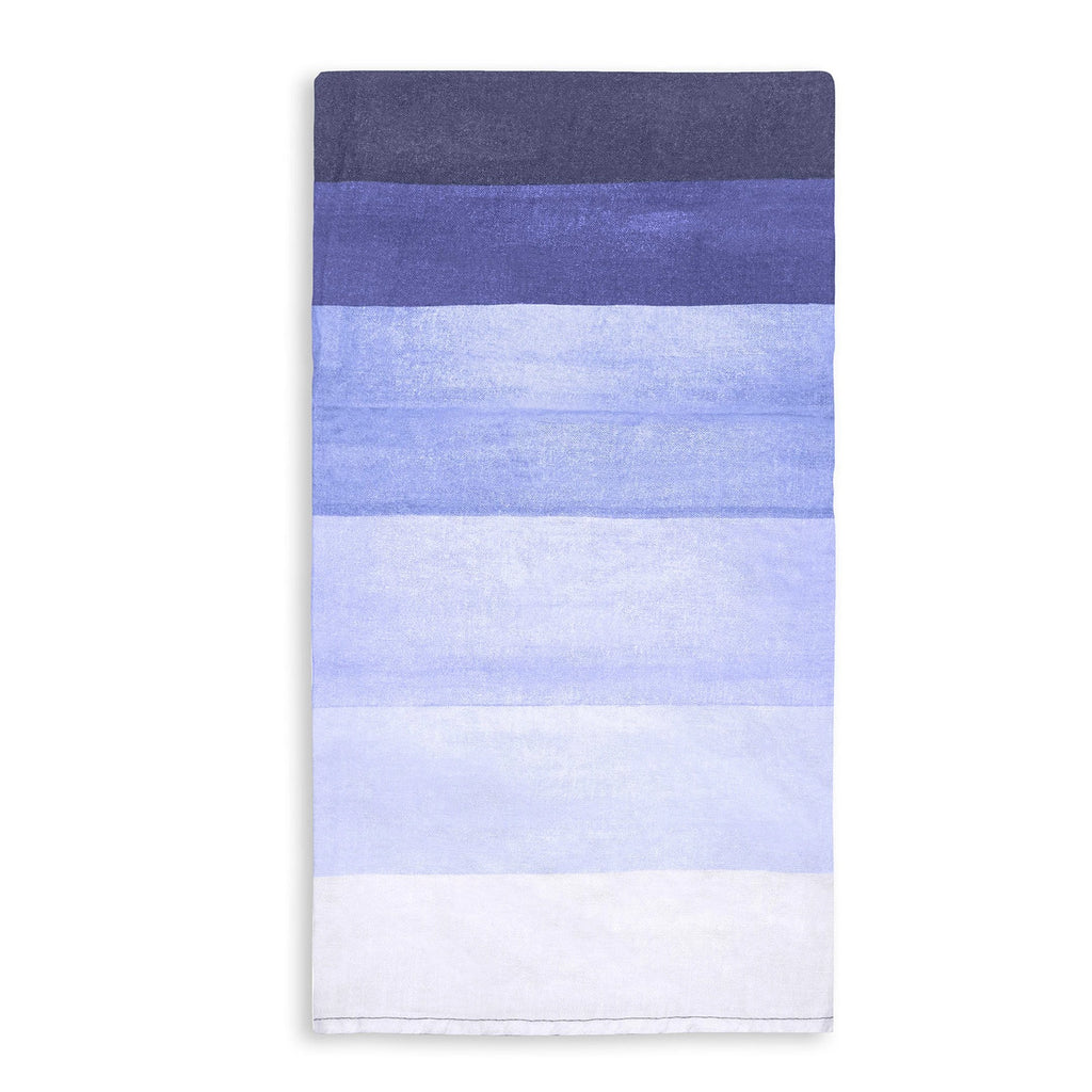 Shades Of Blue Striped Linen Napkins by Summerill & Bishop