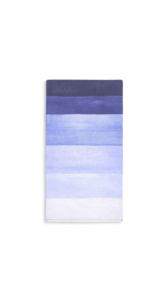 Shades Of Blue Striped Linen Tablecloth by Summerill & Bishop