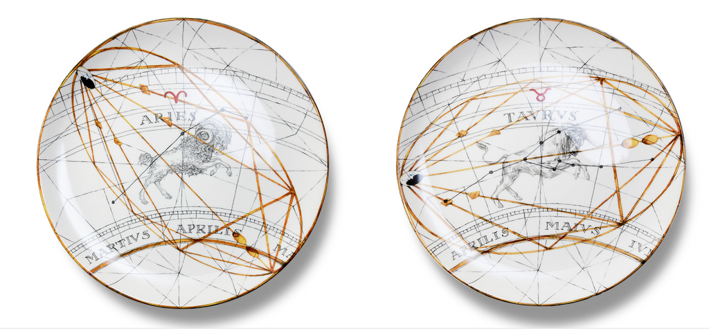Zodiaco Plates by Laboratorio Paravicini - Set of 12