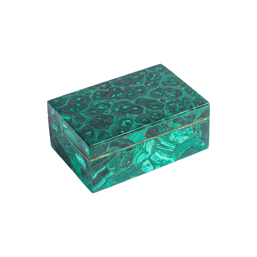 Malachite and Brass Box