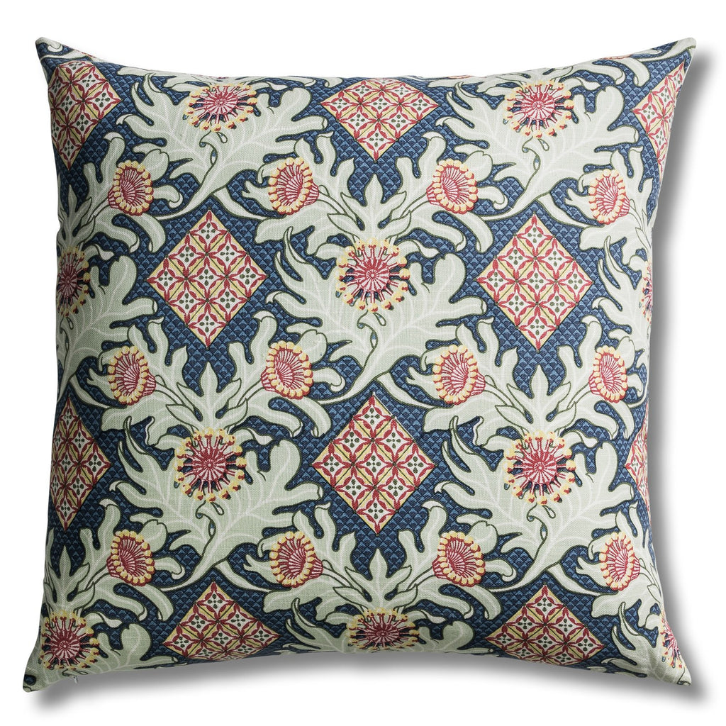 Firewheel Trellis Royal - Large Square Pillow by Utopia Goods