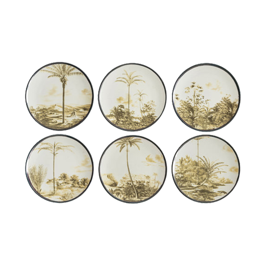 Grand Tour by Vito Nesta - Las Palmas Dinner Plates - Set of 6