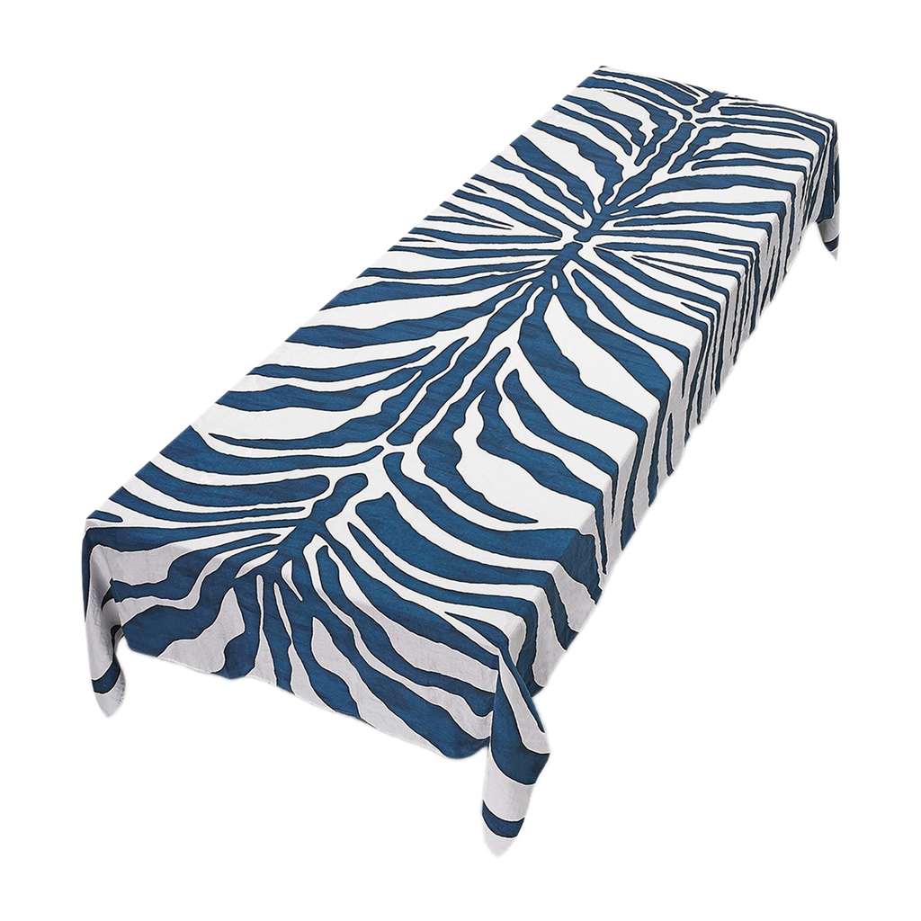 Zebra Linen Napkins in Petrol Blue by Summerill & Bishop