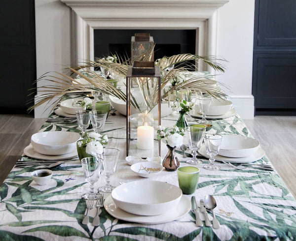 Les Palmiers Linen in Green