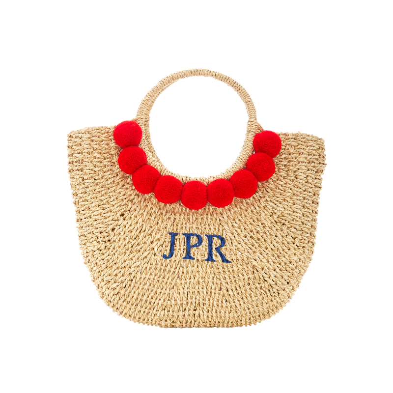 Monogram Martha Pom Pom Basket