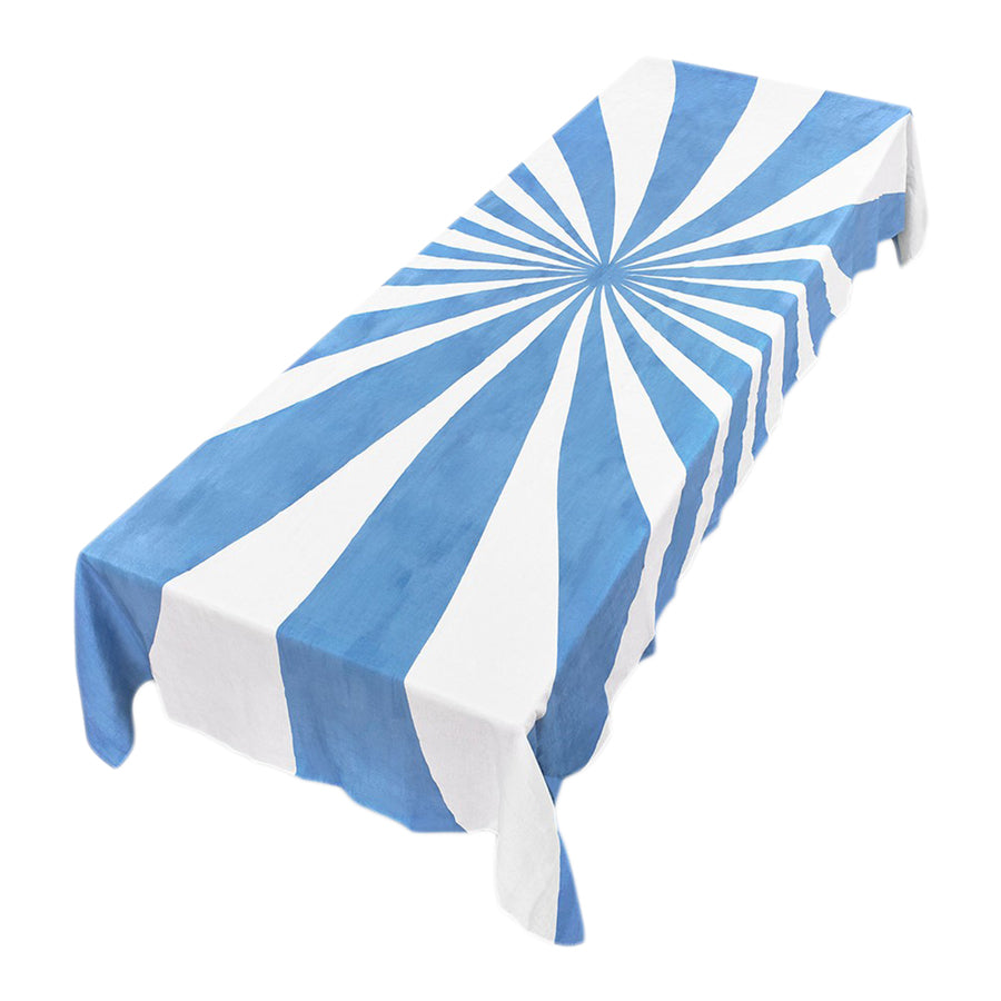 Le Cirque Blue Linen Tablecloth by Summerill & Bishop