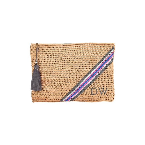 Monogram Bags Five Stripe Knit Clutch