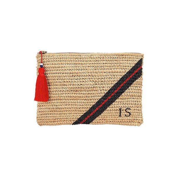 Monogram Bags Three Stripe Knit Clutch