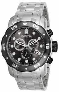 Invicta Men's 17083 Pro Diver Quartz Chronograph Charcoal Dial Watch