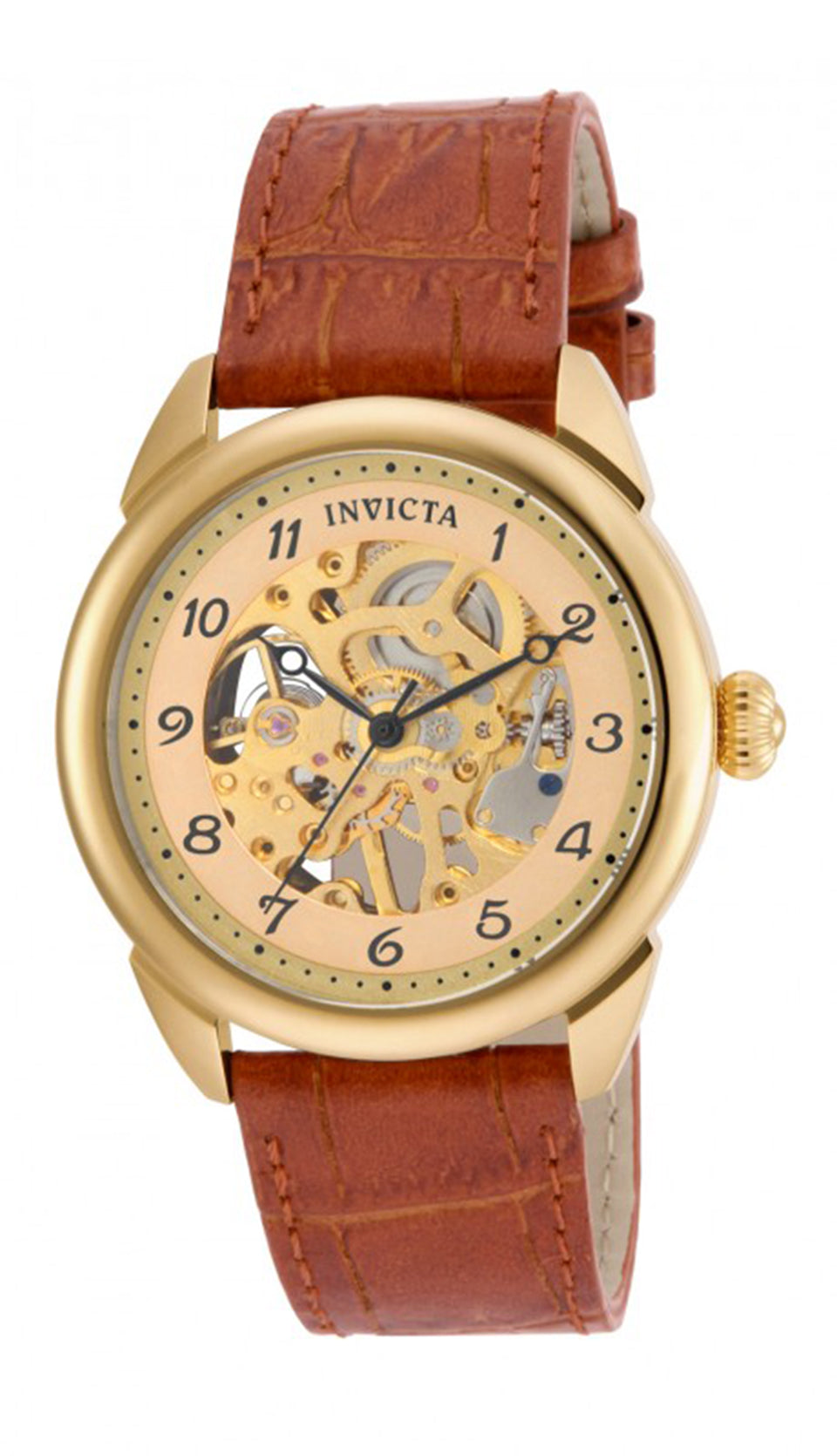 Invicta Men's 17188 Specialty Mechanical 3 Hand Gold Dial Watch