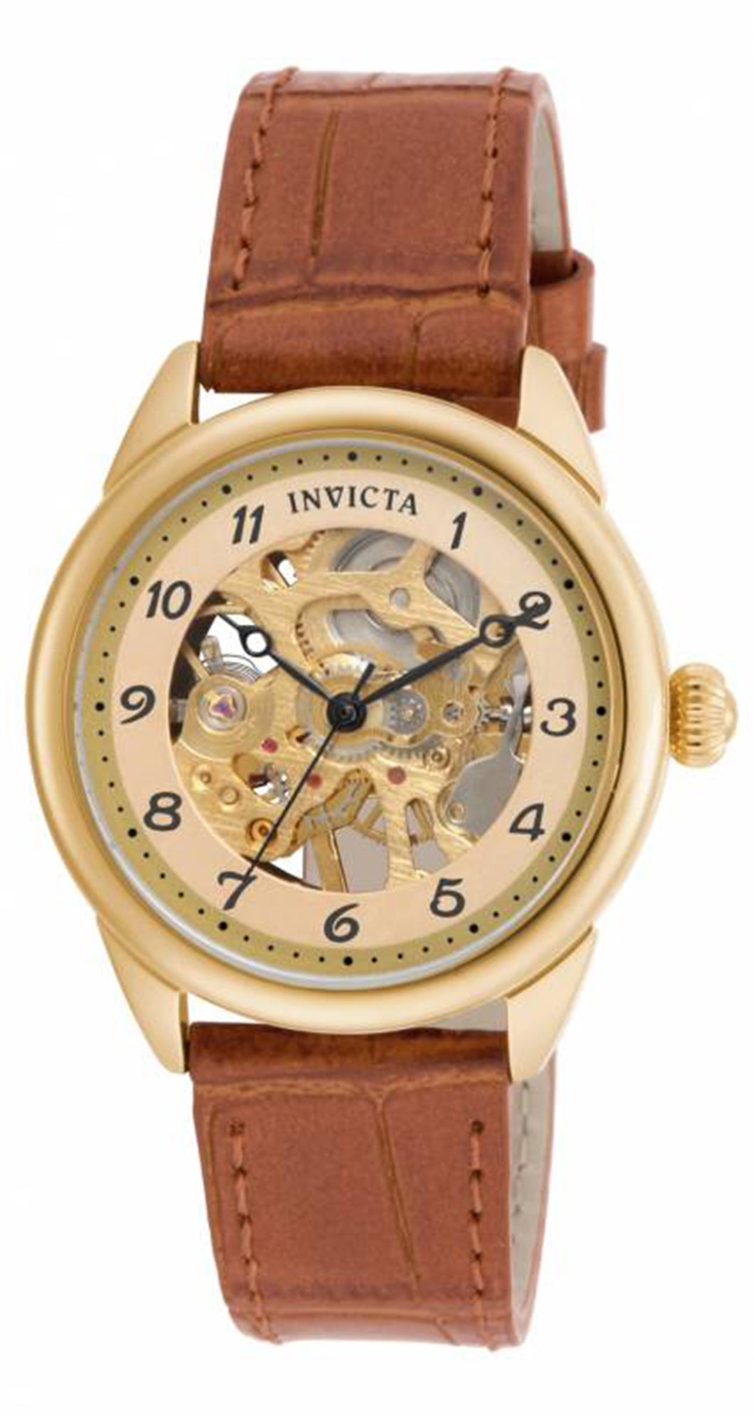 Invicta Women's 17199 Specialty Mechanical 3 Hand Gold Dial Watch