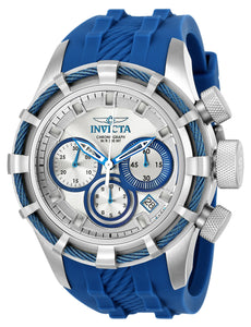 Invicta Men's 22152 Bolt Quartz Chronograph Silver, Blue Dial Watch