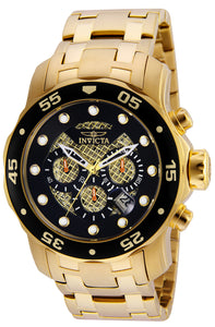 Invicta Men's 25332 Pro Diver Quartz Chronograph Black Dial Watch