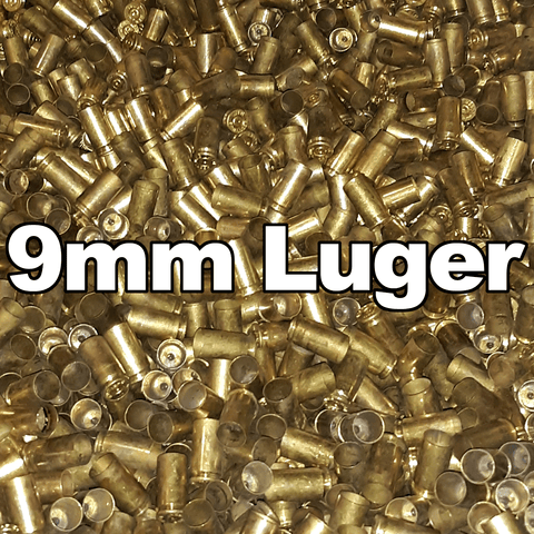 100pk 9mm Luger Once Fired Brass