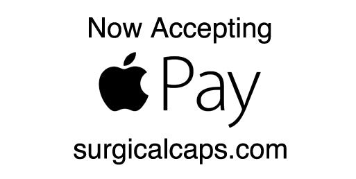 Accepting Apple Pay @ surgicalcaps.com