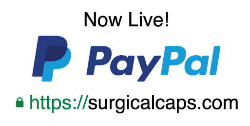 Accepting PayPal at surgicalcaps.com