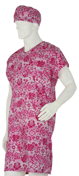 Hospital Gowns Pink Flowers