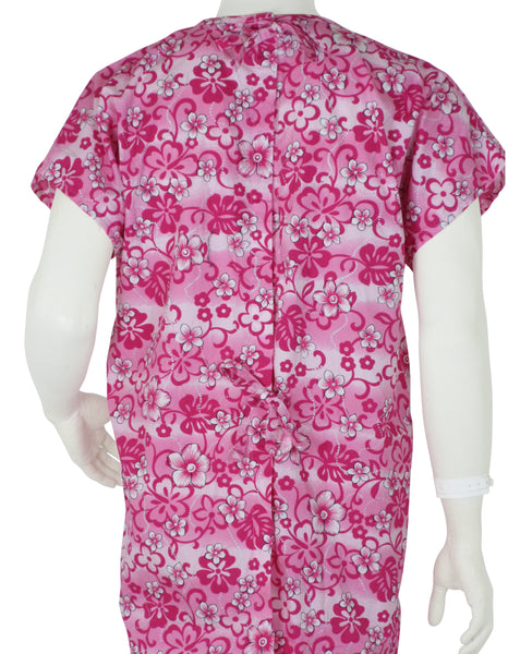 patient gowns Pink Flowers