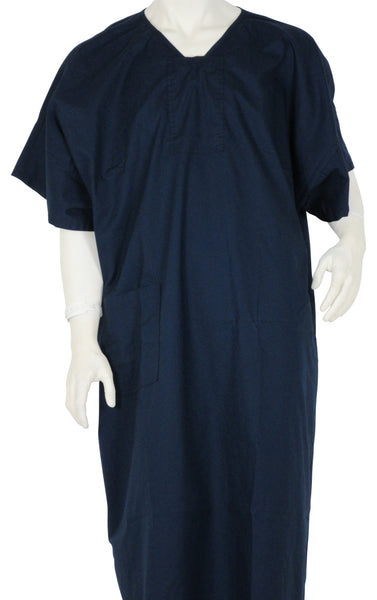 designer Patient Gowns Deep Navy