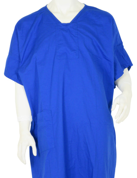 Patient Gown Ocean Blue