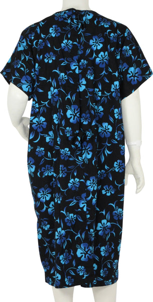 Patient Gowns Black Lava Flower
