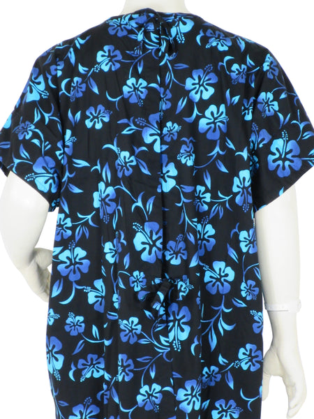 Patient Gowns Black Lava Flowers