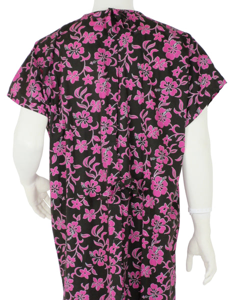 Hospital Gowns Pink Lava Flowers