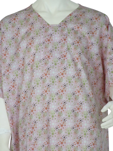 designer hospital gowns Geometrix Pink