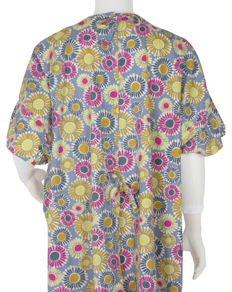 designer Hospital Gown Sunshine Flowers