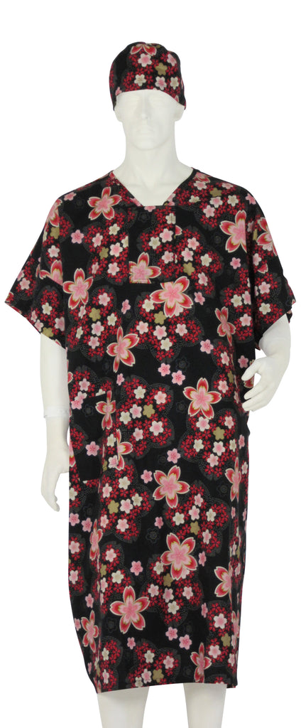 Hospital Gown Tokyo Blossoms