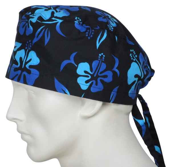 Scrub Caps Lava Flower Black